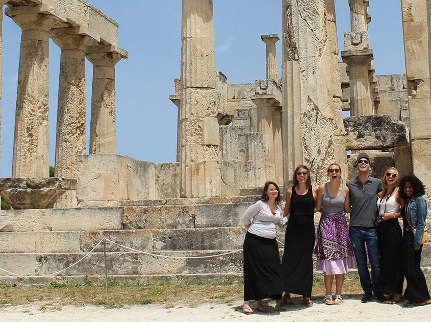 Students on study abroad trip