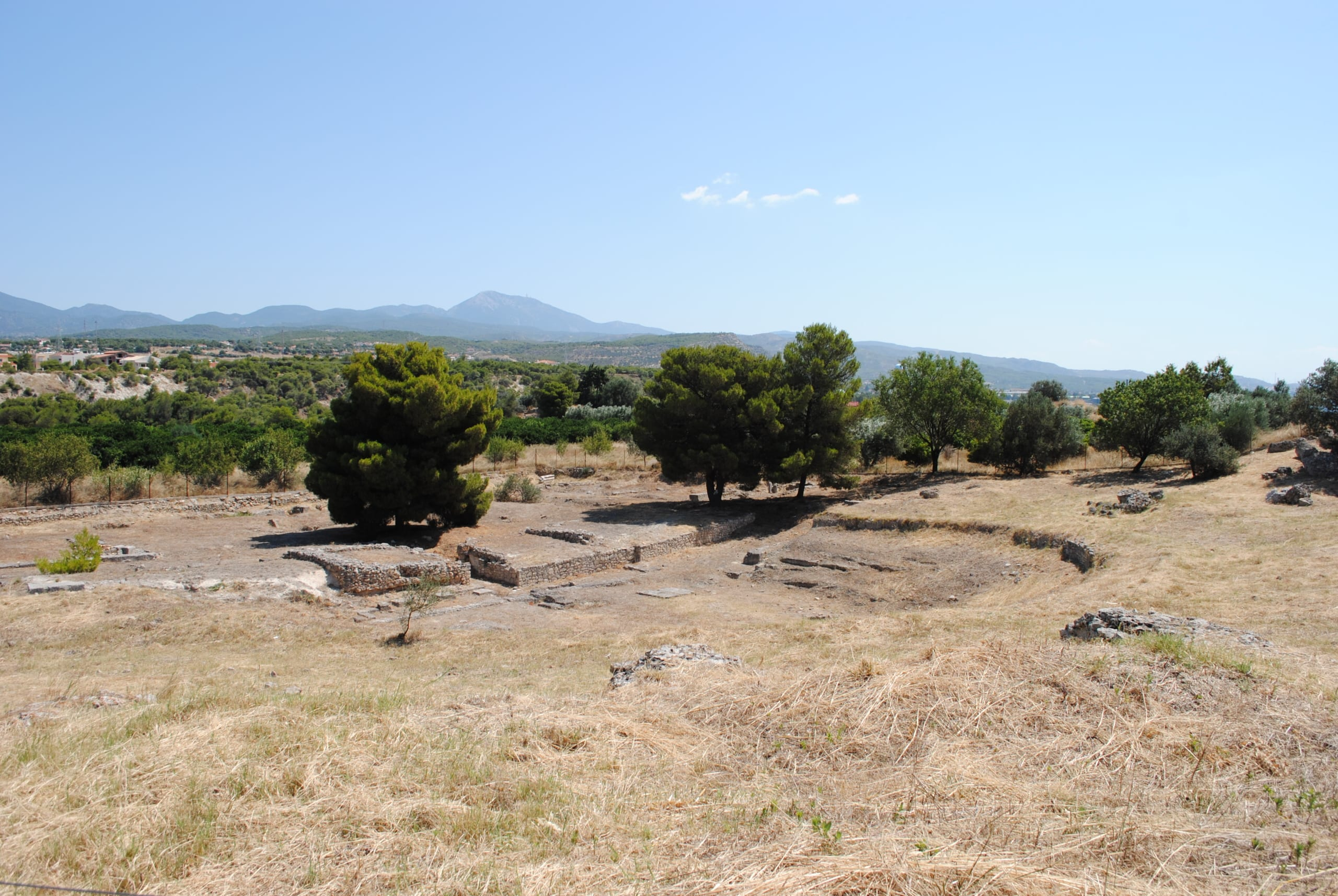 The Theater at Isthmia from the southwest