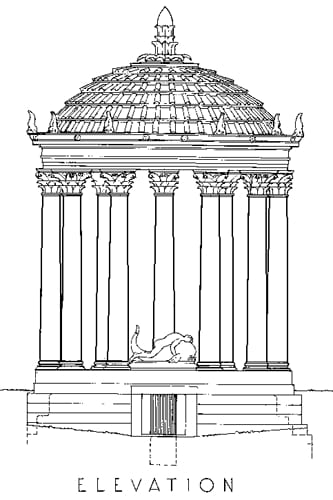 Reconstructed Elevation of the Temple of Palaimon