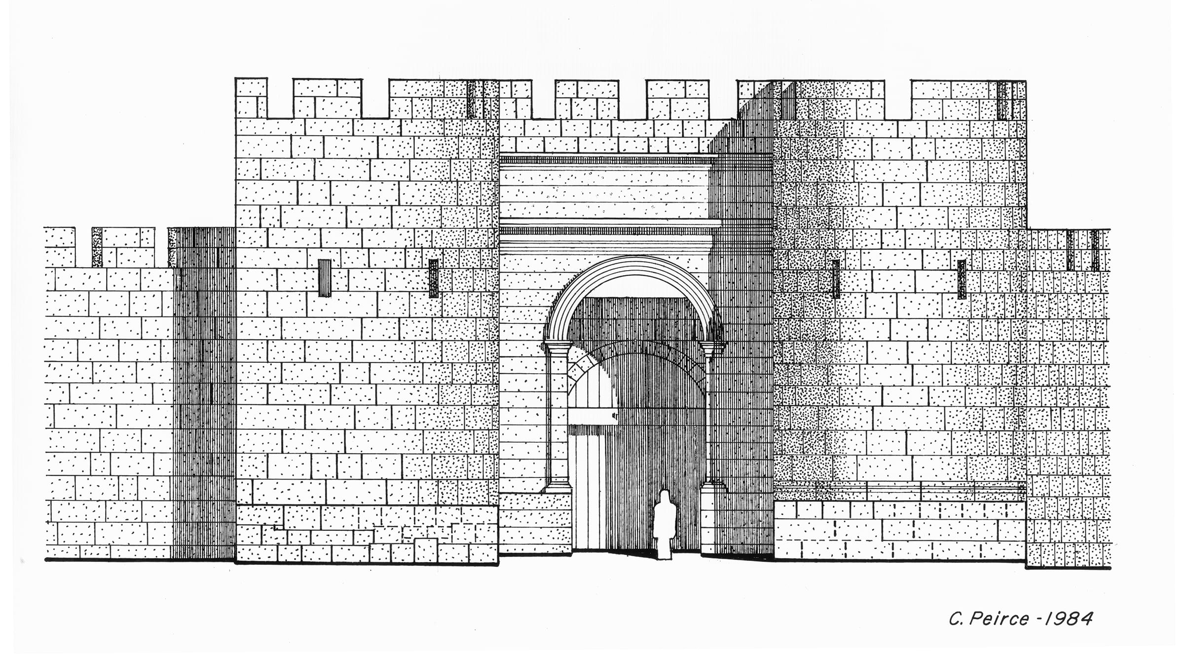 Restored view of Northeast Gate into Fortress at Isthmia
