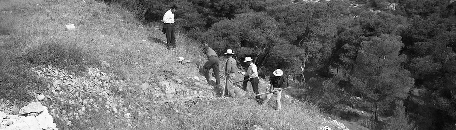 Excavation on the northern slopes of the site
