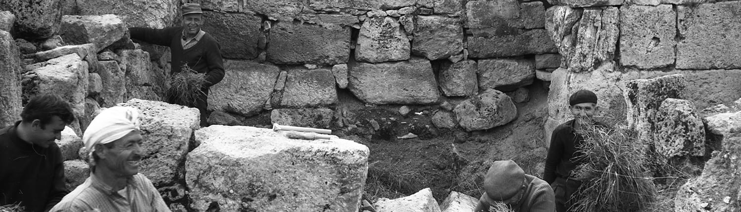 Excavation of the South Gate of the Byzantine Fortress