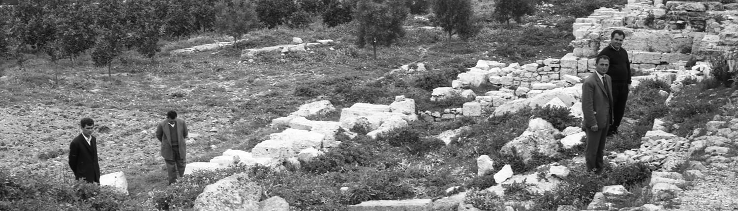 Excavation of the western walls of the Byzantine Fortress